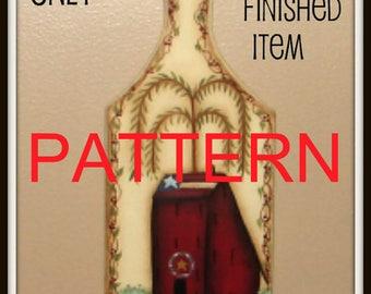 EPATTERN, # 0007 saltbox house, painting patterns, decorative painting, tole painting, primitive pattern, instant download, digital download