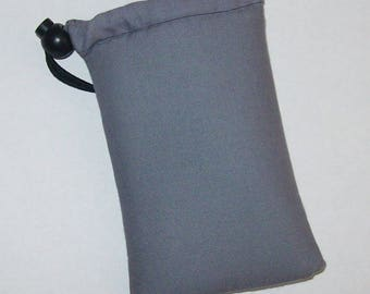 """Pipe Pouch, Grey Pipe Case, Pipe Bag, Glass Pipes, Pipe Cozy, Padded Pipe Pouch, 420, Weed, Cannabis, Smoke Accessory - 5"""" DRAWSTRING"""