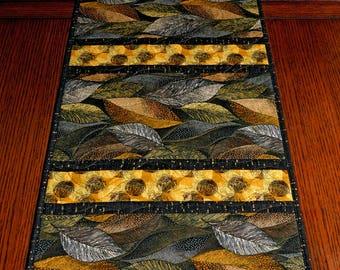 Golden Leaves Table Runner