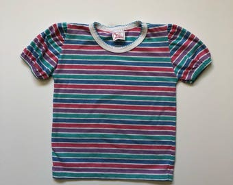 1980's Rainbow Stripe Tee (4t)