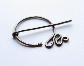 Snake Pennanular Brooch. Ouroborus Fibula Shawl Pin. Jörmungandr.
