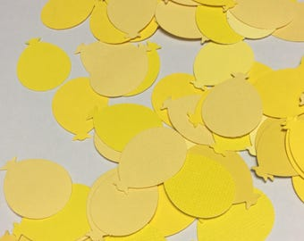 100 Yellow Balloon Confetti - Ballon Diecuts Birthday Confetti Shades of Yellow