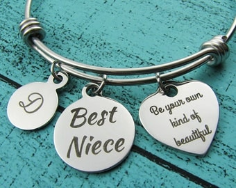Best Niece Christmas gift, be your own kind of beautiful bracelet, niece birthday gift, niece jewelry, inspirational gift, niece graduation