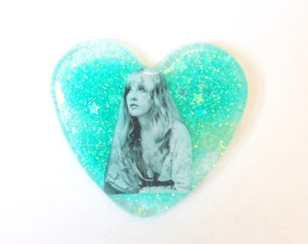 Stevie Nicks Heart Shaped Pin or Pendant