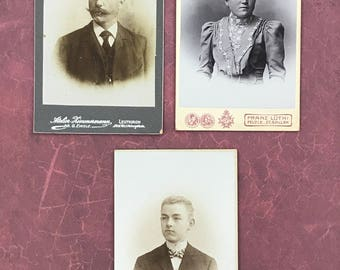 European Carte de Visite Instant Ancestors CdV Cabinet Card 9035