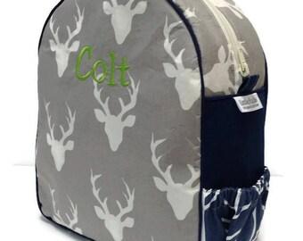 Personalized Toddler Backpack, Preschool Backpack, Deer Backpack, Boys Backpack, Arrow Backpack, Kindergarten Backpack, Book Bag, Tote Bag
