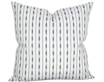 Rania Stripe pillow cover in Black