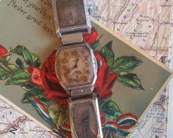 LARGE WATCHES vintage antique assemblage bracelet