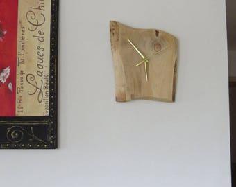 Handmade wooden clock with silent mechanism (No.13)