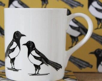 Ekster - valentines cadeau - de verjaardagsgift van de - geluk cadeau-huwelijk cadeau-keramiek mok - koffiemok - unieke mok - mok thee mok-thee cadeau