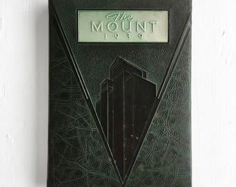 1939 Mount Saint Joseph Yearbook Rutland Vermont Vintage School Book