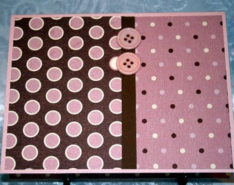 Pink and Brown Dotted Card for Any Occasion  20170133