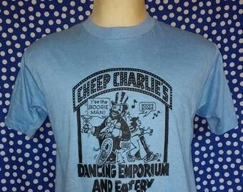 1980's Cheep Charlie's bar t-shirt, fits like a long medium