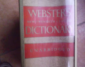 Websters 20th Century Unabridged Library Dictionary