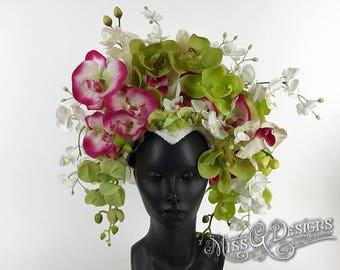 Orchid Headdress Headpiece