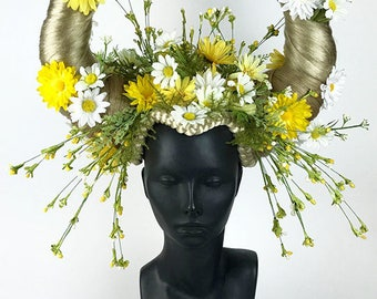 Flower Headdress Daisy Horns