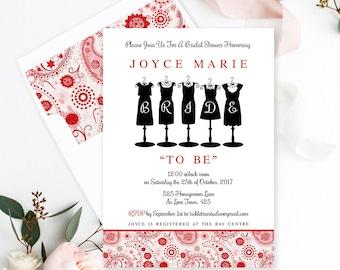 Semi Custom Wedding Stationery - Save the Date, Wedding, Engagement Party, Bridal Shower - Paisley Reds (Style 13421)