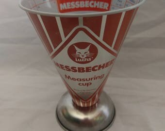 Messebecher measuring cup made in west germany