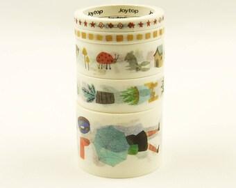 Dusky - Japanese Washi Masking Tape Box Set - 5 rolls - 3.3 Yard (each roll)