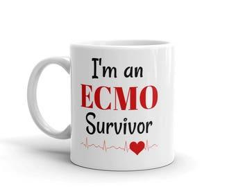 I am an ECMO Survivor Coffee Tea Mug - Choose Size