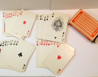 Vintage WESTERN AIRLINES Playing Cards - COMPLETE No Jokers - Aviation Travel Promotional Advertising
