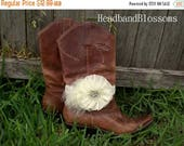 SALE Bridal Boot Bracelet - Boot Band - Boot Accessories - Wedding Boot Cuff - Boot Flower - Rustic Wedding - Boot Jewelry - Country Wedding