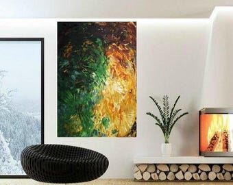 SALE ORIGINAL HUGE Abstract Landscape  Oil Painting Thick Texture Gallery Fine Art -Nicolette Vaughan Horner