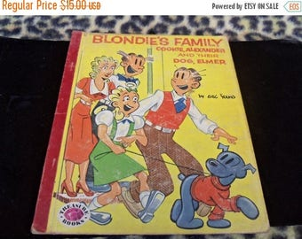 Now On Sale 1954 Blondie Vintage Childrens Book by Treasure Books