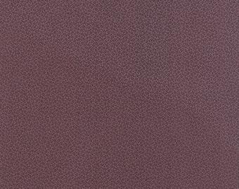 20 % off thru 7/4 moda fabric by 1/2 yard MINIATURE PRIMITIVE GATHERINGS-tiny black vines on plum purple 1157-19