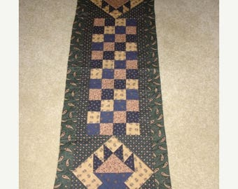 20 % off thru 8/20 Instructions only-MAY BASKETS and SQUARES quilted table runner pattern Spring May Year one