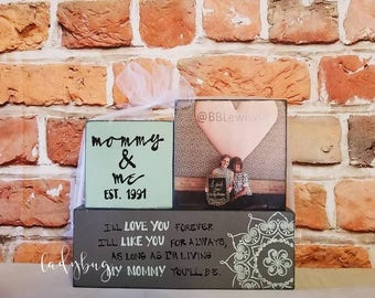 I'll love you forever... My mommy you'll be. Customize your set of three blocks sign, By Ladybug design by Eu