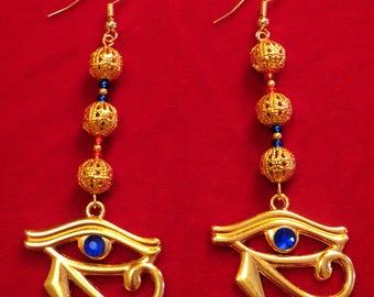 Egyptian Eye of Horus Earrings