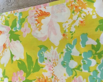 1970s vintage king pillowcas spring bright funky floral soft