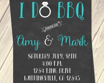 I do BBQ chalk invitation digital printable