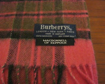 Burberry's 100% cashmere scarf in the MacDonnall of Keppoch tartan