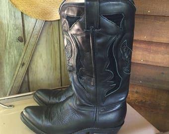 Harley Davidson Ladies Cowboy Boots Size 8.5