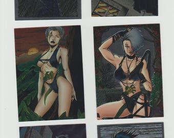 Lot of 6 Everette Hartsoe's Razor fantasy art trading cards, Published 1995