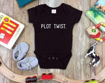 Plot Twist Onesie   Baby & Kids Shirt