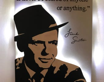 Frank Sinatra Sign with Key and Jewelry Hooks