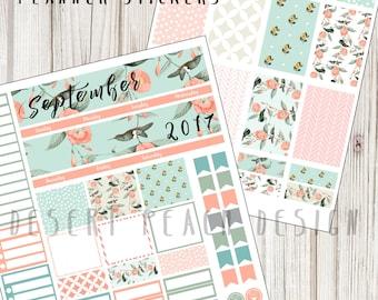 Planner Stickers | Erin Condren life planner | Printable stickers | DIY Planner | September Monthly Planner Kit