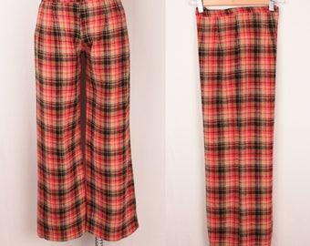1970s plaid pants // wide leg
