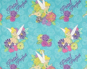 """END OF BOLT - 14.5"""" X 44""""- Disney's Tinkerbell Petal Perfect Flower From Springs Creative"""