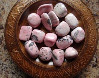 RHODOCHROSITE Stone Gemstone Tumbled 4 oz Wiccan Pagan Metaphysical Reiki Chakra Supply