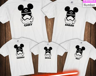 Disney Star Wars Inspired  Troop Vacation  Family Vacation T-shirts  Animal Kingdom, Magic Kingdom, Epcot, Hollywood Studios