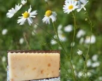 Chamomile Soap Bar - Handmade Amish Goats Milk So Fresh Soap, Farmhouse Fresh Natural Soap, Amish Made Body + Shampoo Bar, Bar Soap
