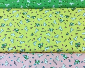 Penny Rose fabric toy chest lambs in 3 colours By The Half Metre