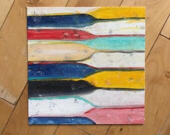 Original abstract Painting, Abstract Art, Original Art, Square Art, contemporary art, Fine Art, Modern Art, Stripes