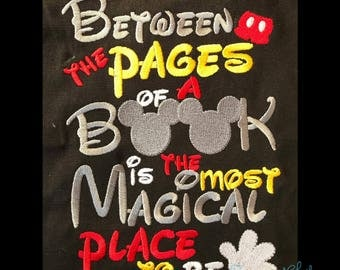 Between the Pages Mouse Book saying design digital instant download