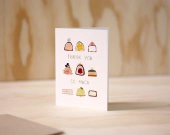 Thank you Sweets + Illustration + Greeting Card