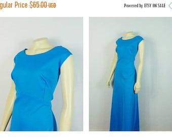 SALE Vintage Dress Plus Size 60s 70s Lane Bryant Sky Blue Formal Prom Dress Size B2 Modern Size 2X-3X